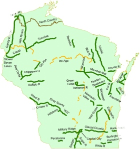 WI snowmobile/ATV trail map
