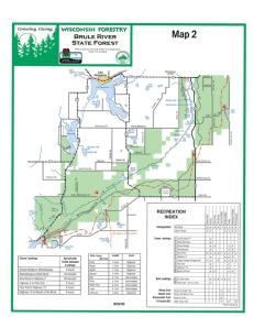 Bois Brule map - Southern region