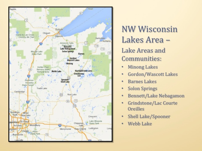NW Wisconsin lakes and recreation country