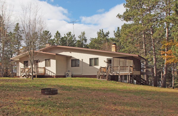 3 Br Home For Sale On Cranberry Lake Wascott Wi