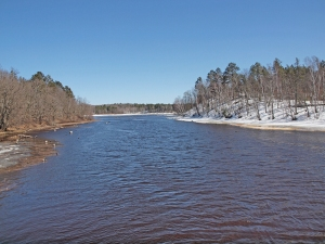 Minong Flowage at Smith Bridge landing