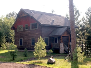 Timber frame home on Bony Lake