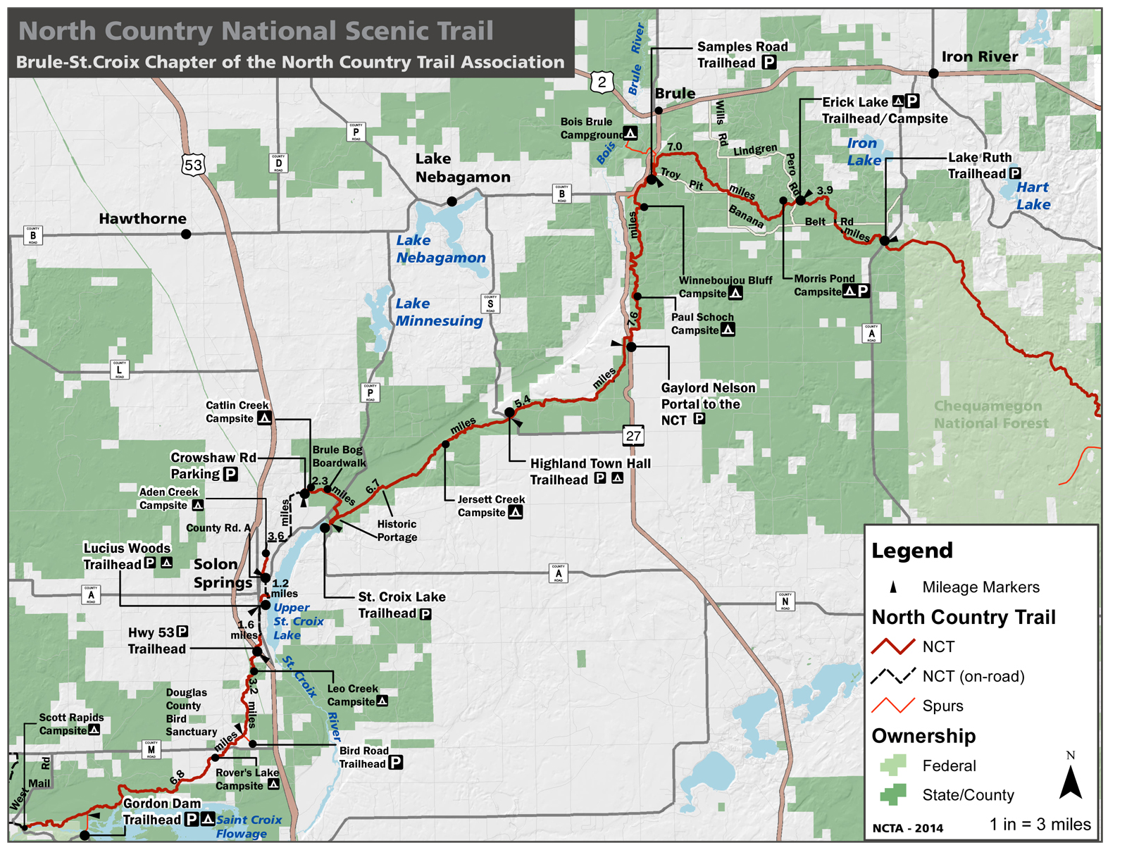 North Country Hiking Trail Douglas County Jean Hedren Your - Map of northern wisconsin lakes