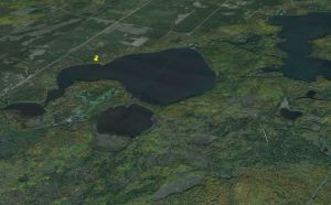 Lower Eau Claire aerial map