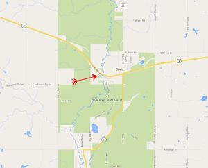 BR 32 map brule at hwy 2
