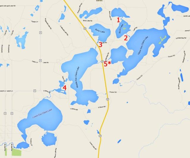 Eau Claire Lakes channels, Barnes, WI