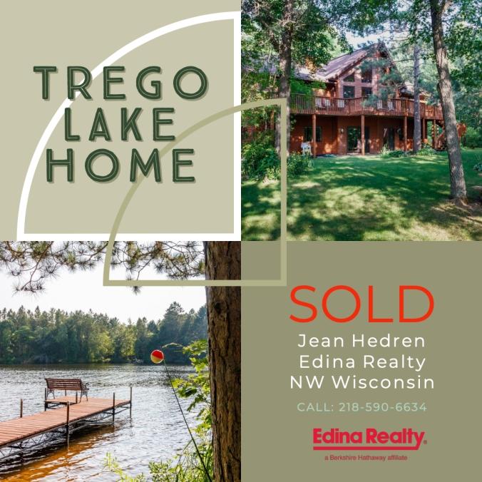 Sold Trego Lake 3 bedroom chalet  N8125 River Rd, Trego, WI